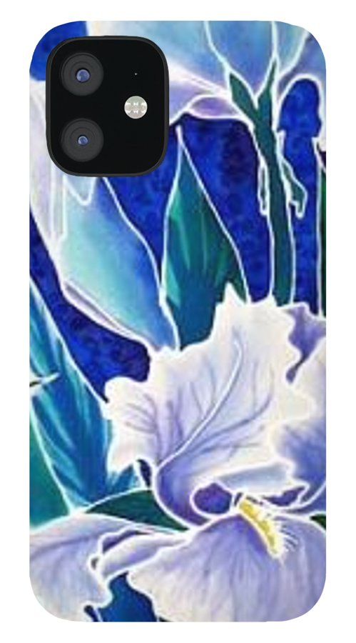 Iris IPhone 12 Case featuring the painting Iris by Francine Dufour Jones