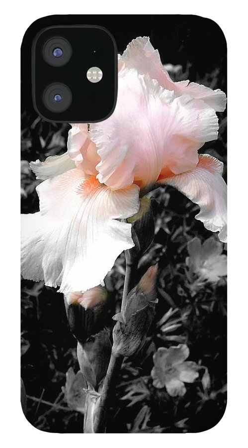 Flower IPhone 12 Case featuring the photograph Iris Emergance by Steve Karol
