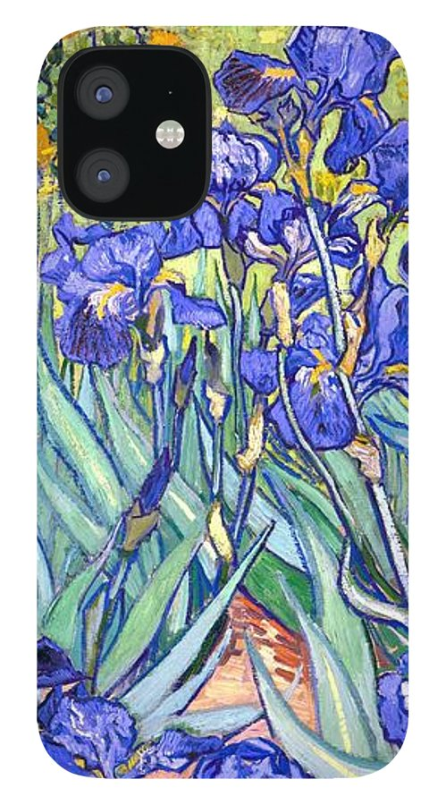 Van Gogh IPhone 12 Case featuring the painting Irises by Van Gogh