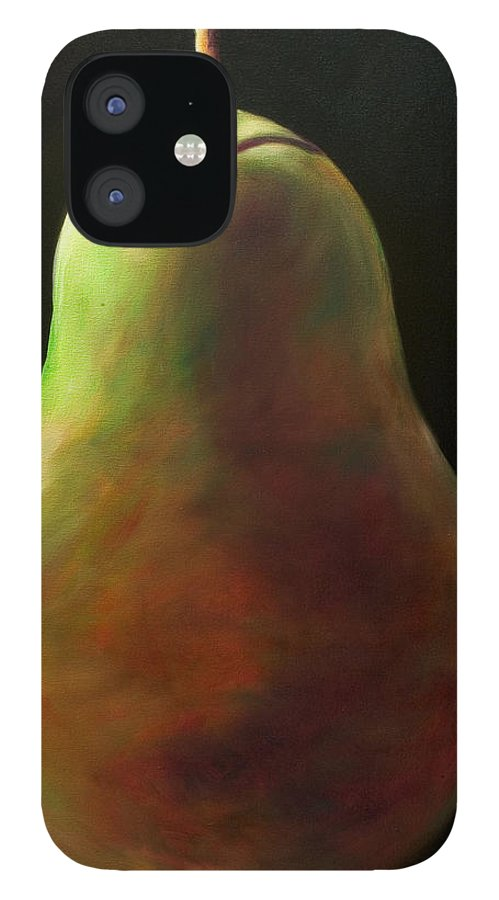 Pear IPhone 12 Case featuring the painting Jan by Shannon Grissom