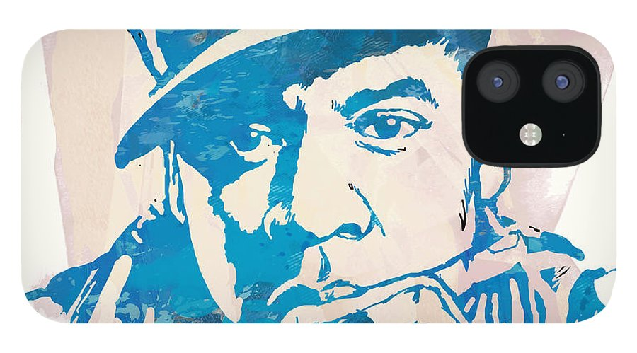 Shawn Corey Carter IPhone 12 Case featuring the drawing Jay-Z Etching Pop Art Poster by Kim Wang