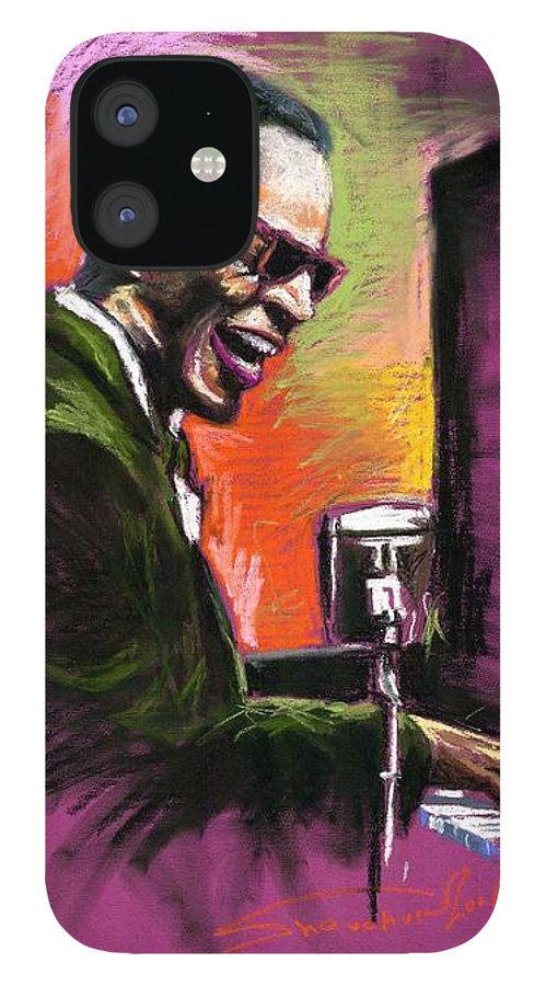 IPhone Case featuring the painting Jazz. Ray Charles.2. by Yuriy Shevchuk