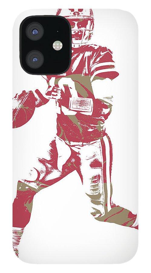 Jimmy Garoppolo IPhone 12 Case featuring the mixed media Jimmy Garoppolo SAN FRANCISCO 49ERS PIXEL ART 2 by Joe Hamilton
