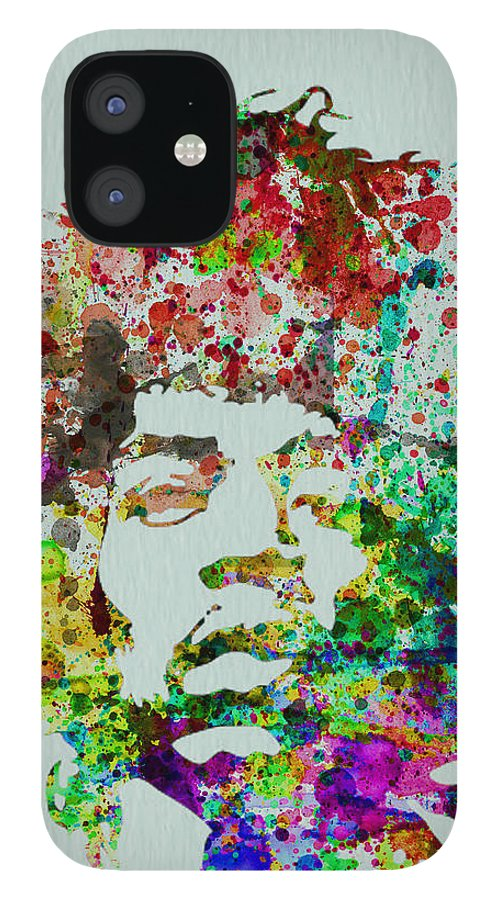 Jimmy Hendrix IPhone 12 Case featuring the painting Jimmy Hendrix watercolor by Naxart Studio