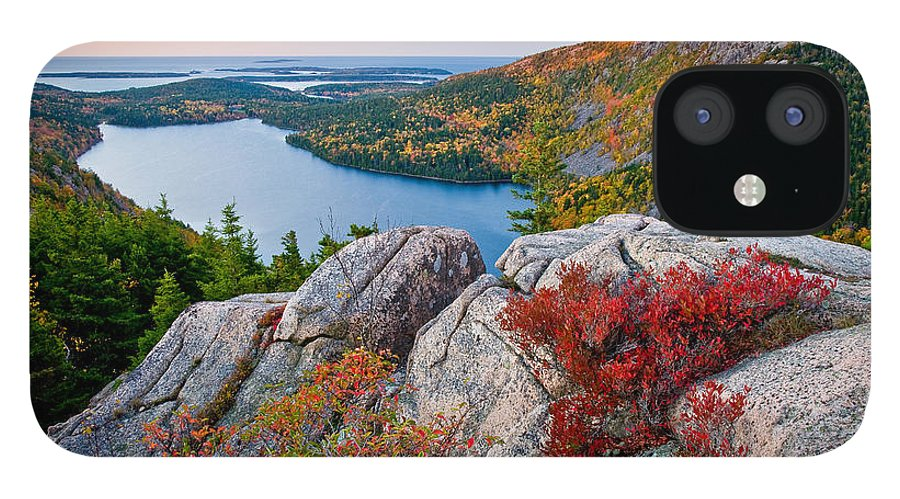 Acadia National Park IPhone 12 Case featuring the photograph Jordan Pond Sunrise by Susan Cole Kelly