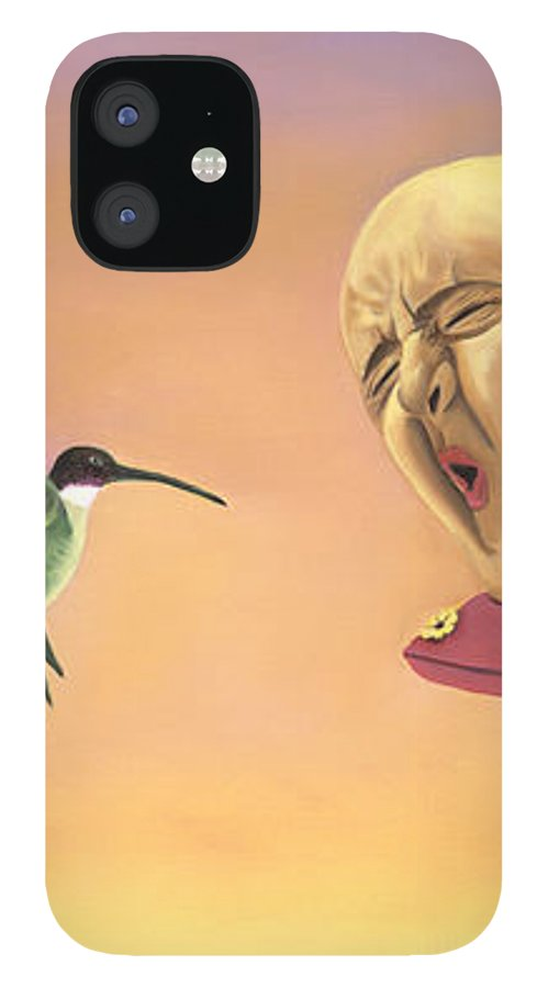 Faces In Unusual Places IPhone 12 Case featuring the painting Joshua by Sandi Snead