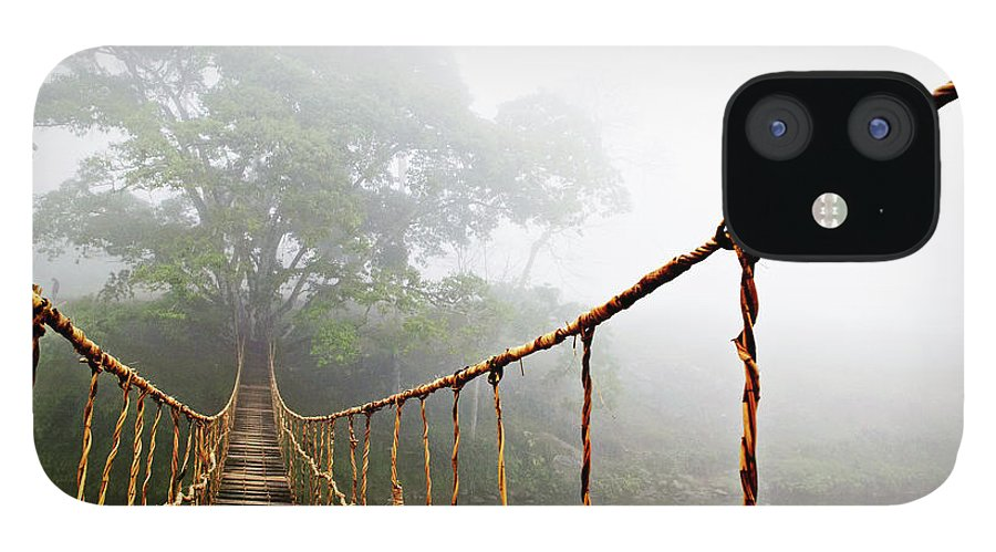 Rope Bridge IPhone 12 Case featuring the photograph Jungle Journey by Skip Nall