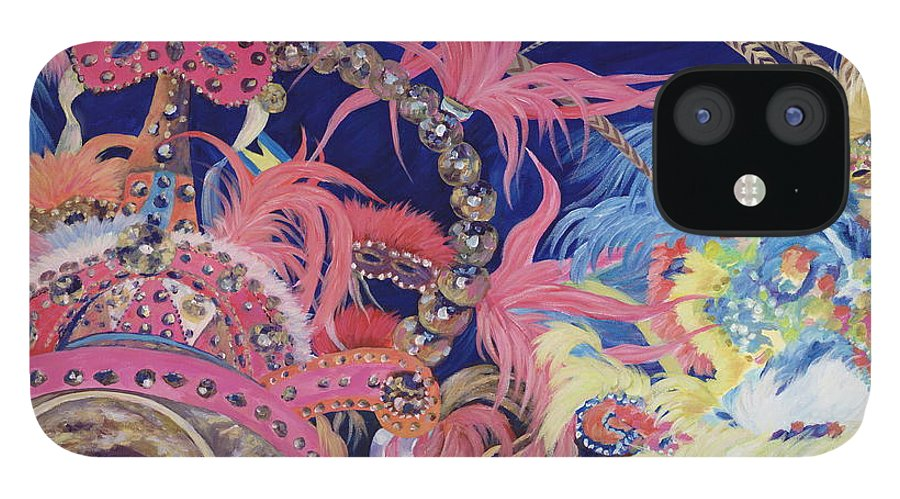Bahamas IPhone 12 Case featuring the painting Junkanoo by Danielle Perry