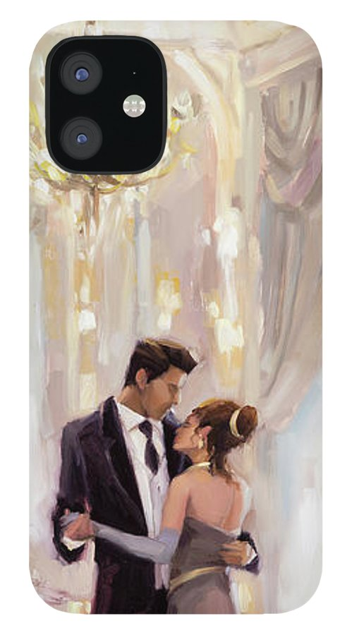 Romance IPhone 12 Case featuring the painting Just the Two of Us by Steve Henderson