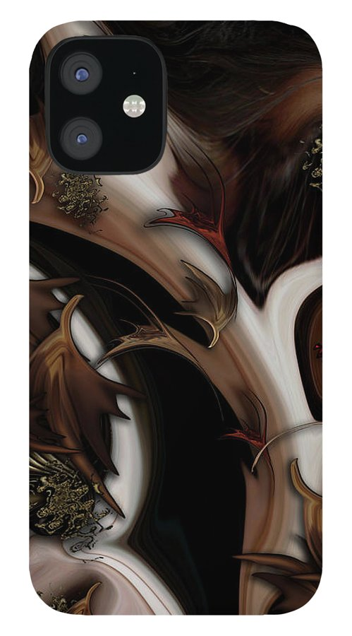 Abstract Nature IPhone Case featuring the digital art Juxtaposed Nature by Carmen Fine Art