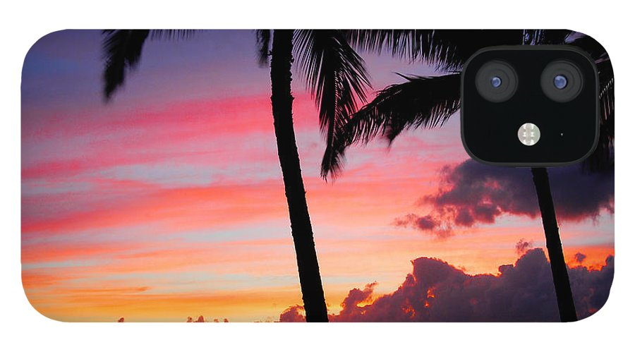 Kaanapali Sunset IPhone 12 Case featuring the photograph Kaanapali Sunset Kaanapali Maui Hawaii by Michael Bessler