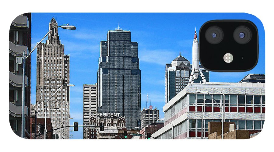 City Scape iPhone 12 Case featuring the photograph Kansas City Cross Roads by Steve Karol