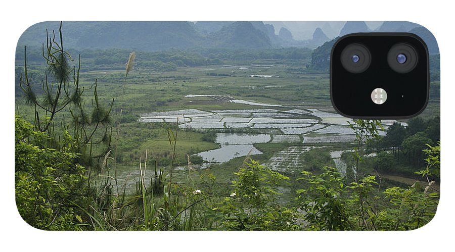 Asia IPhone 12 Case featuring the photograph Karst Landscape of Guangxi by Michele Burgess