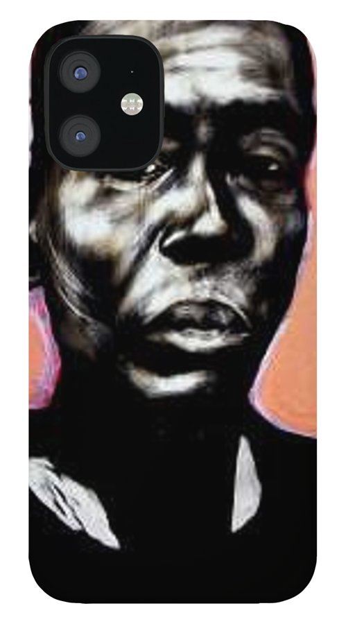 Portrait IPhone 12 Case featuring the mixed media Kewam by Chester Elmore