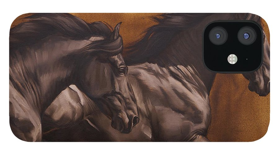 Michelle Grant iPhone 12 Case featuring the painting Kick by JQ Licensing