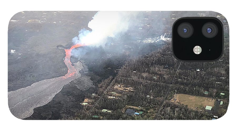 Hawaii IPhone 12 Case featuring the photograph Kilauea Volcano Hawaii by Heather Coen