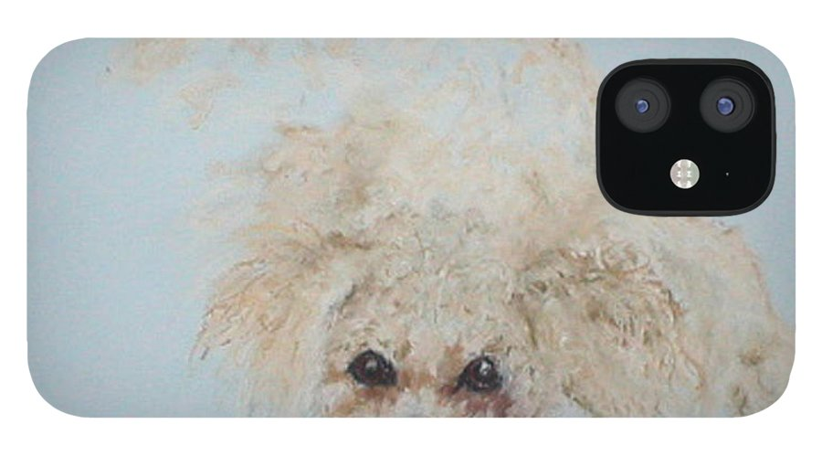 Dog IPhone 12 Case featuring the drawing Kuku by Cori Solomon