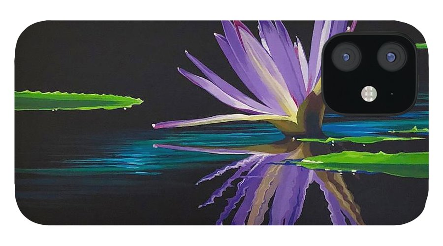 Waterlily iPhone 12 Case featuring the painting Lagan Love by Hunter Jay