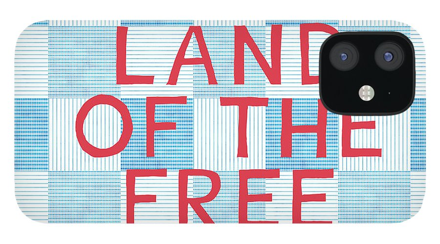 Land Of The Free IPhone 12 Case featuring the painting Land Of The Free by Linda Woods