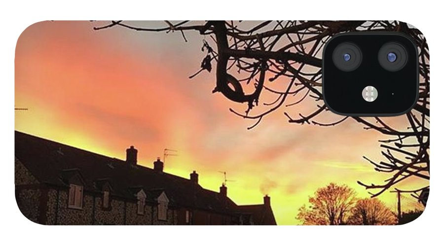 Natureonly IPhone 12 Case featuring the photograph Last Night's Sunset From Our Cottage by John Edwards