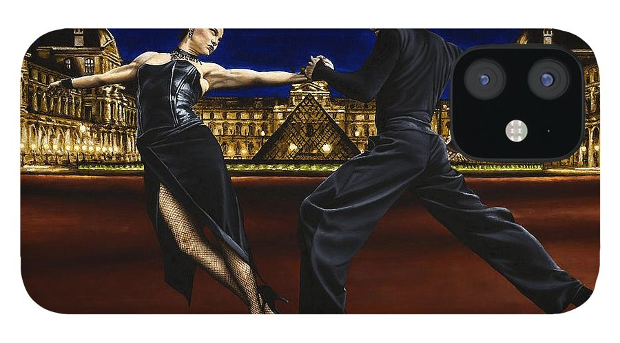 Tango IPhone 12 Case featuring the painting Last Tango in Paris by Richard Young