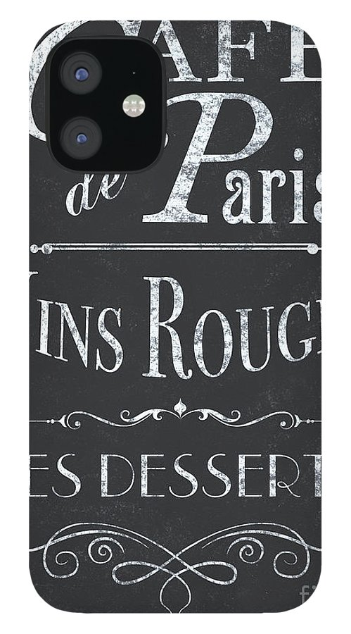 Cafe IPhone 12 Case featuring the painting Le Petite Bistro 2 by Debbie DeWitt