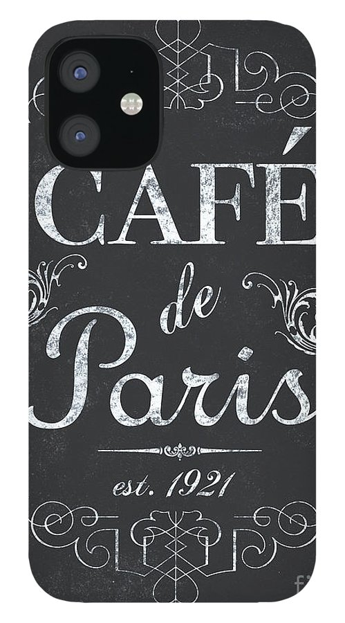 Cafe IPhone 12 Case featuring the painting Le Petite Bistro 3 by Debbie DeWitt