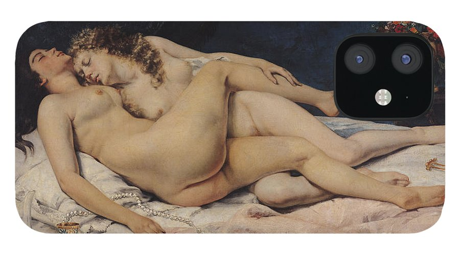 Love IPhone 12 Case featuring the painting Sleep by Gustave Courbet by Gustave Courbet
