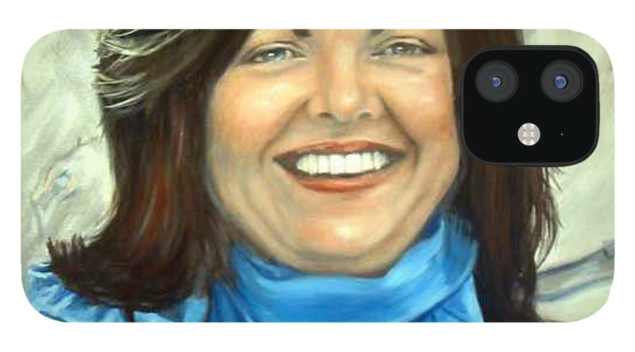 IPhone 12 Case featuring the painting Leslie Eliason by Anne Kushnick