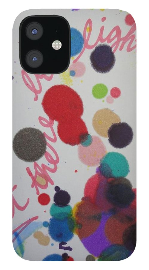 Light IPhone 12 Case featuring the painting Let There Be Light by Vonda Drees