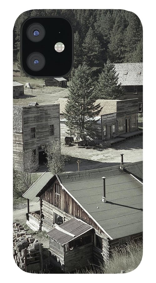 Ghost Towns iPhone 12 Case featuring the photograph Life in a Ghost Town by Richard Rizzo
