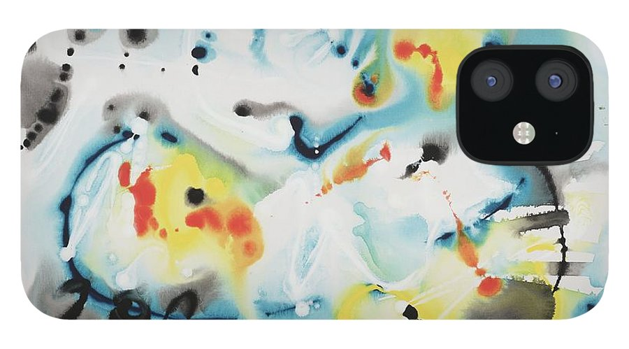 Life IPhone 12 Case featuring the painting Life by Nadine Rippelmeyer