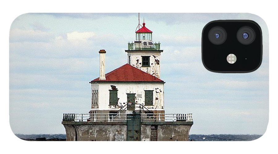 Lake Ontario iPhone 12 Case featuring the photograph Lighthouse At Oswego NY by Rennae Christman