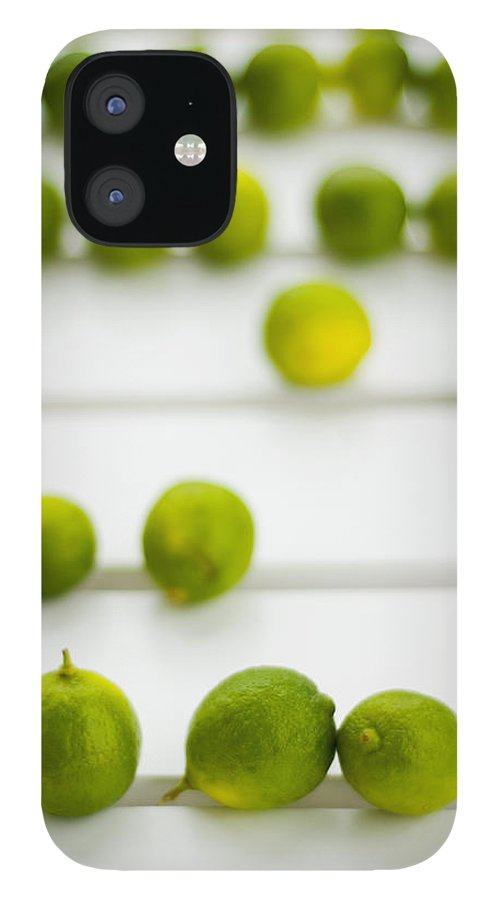 Green iPhone 12 Case featuring the photograph Lime Green by Skip Hunt