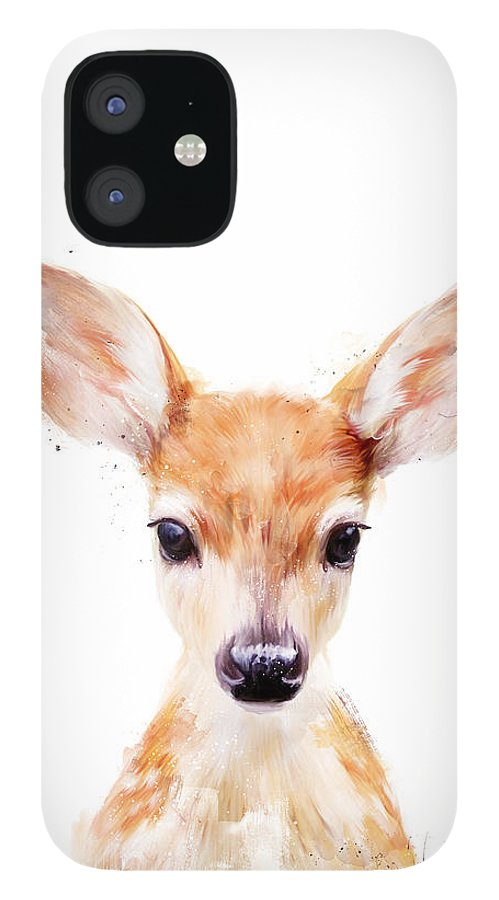 Fawn IPhone 12 Case featuring the painting Little Deer by Amy Hamilton