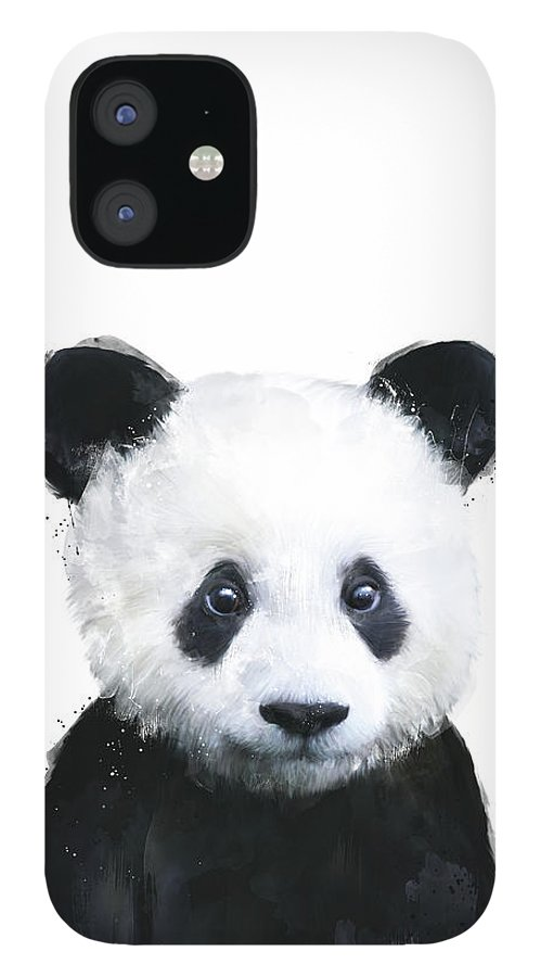 Panda IPhone 12 Case featuring the painting Little Panda by Amy Hamilton