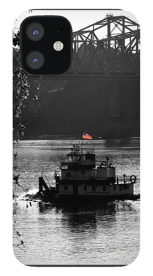 Tug Boat IPhone 12 Case featuring the photograph Little tug by Leon Hollins III