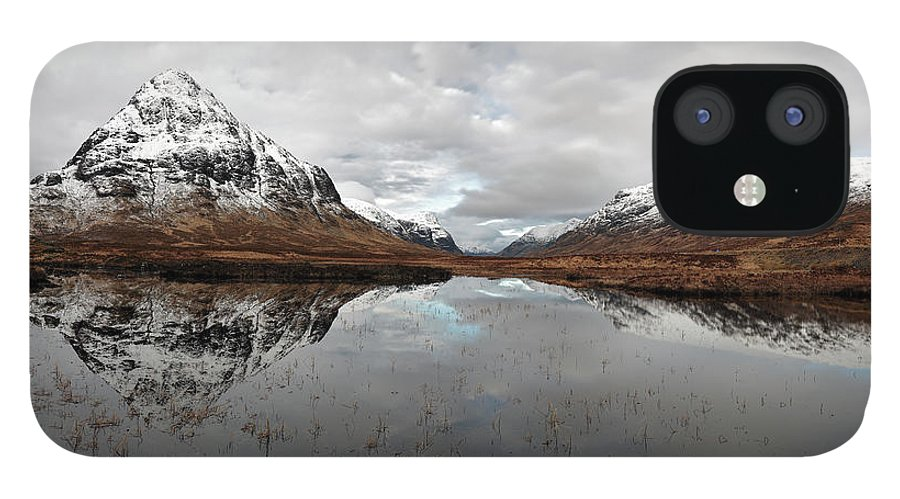 Lochan Na Fola Panorama IPhone 12 Case featuring the photograph Lochan Na Fola Panorama by Grant Glendinning