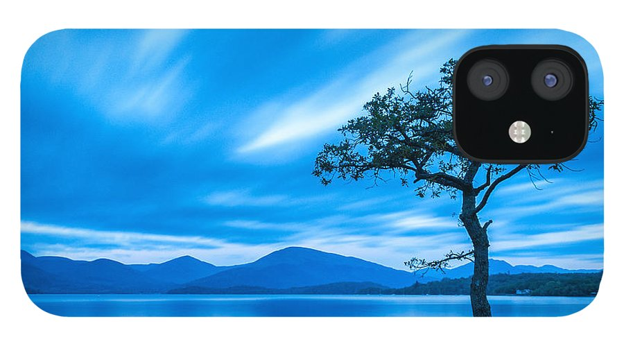 Milarrochy Bay IPhone 12 Case featuring the photograph Lone tree Milarrochy Bay by Janet Burdon