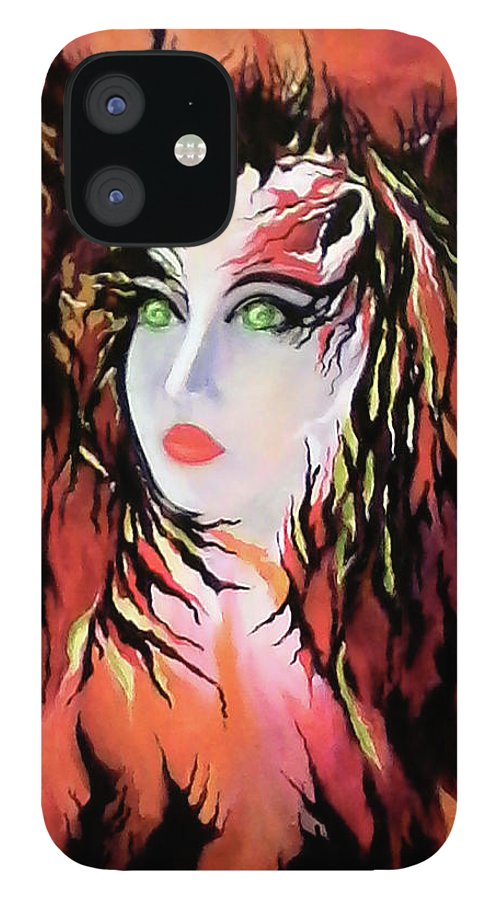 Female Portrait IPhone Case featuring the painting The Lonely Angel of God by Carmen Fine Art