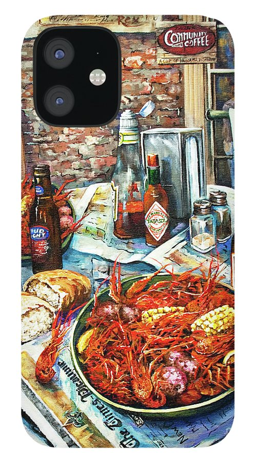 New Orleans Art iPhone 12 Case featuring the painting Louisiana Saturday Night by Dianne Parks