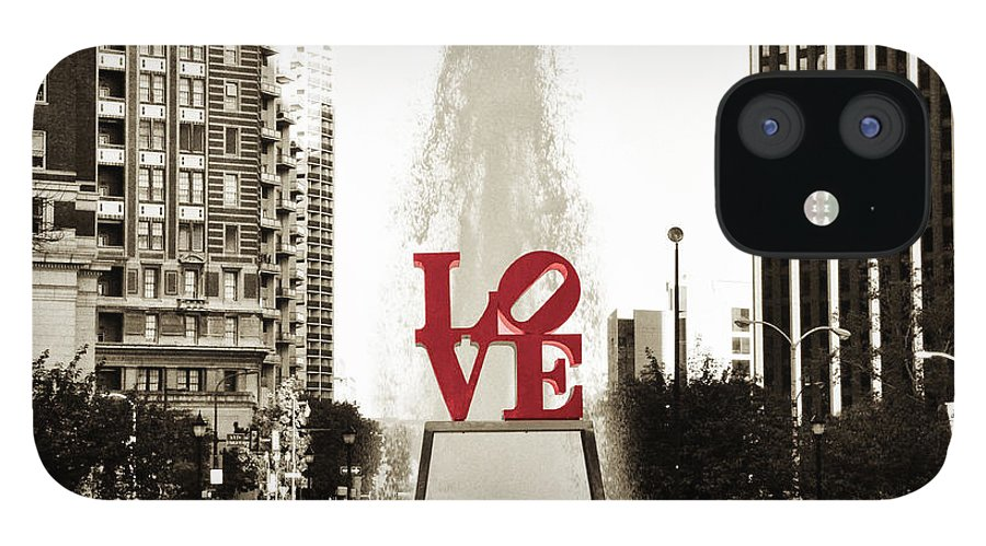 Love IPhone 12 Case featuring the photograph Love in Philadelphia by Bill Cannon