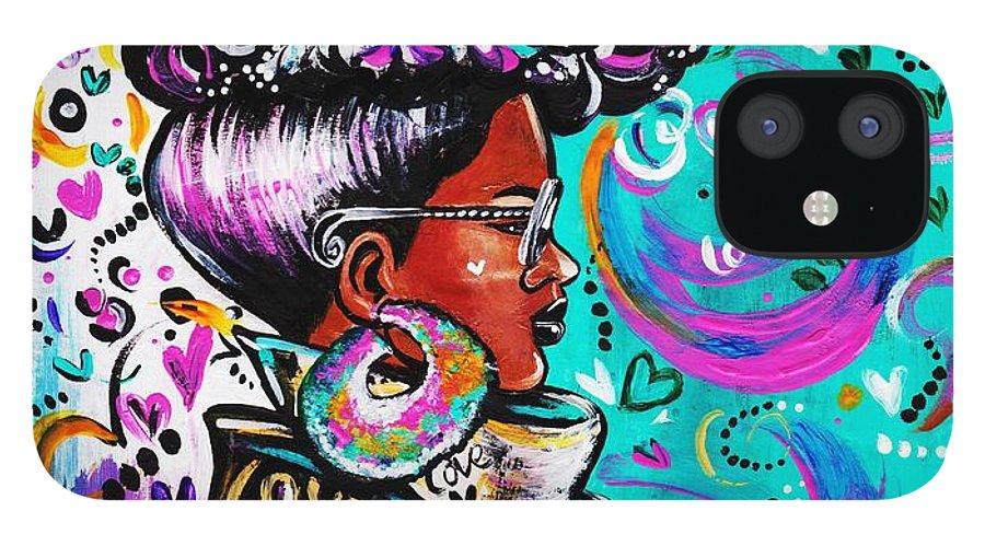 Afro IPhone 12 Case featuring the photograph Lovely by Artist RiA