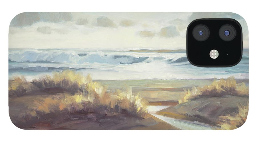 Ocean IPhone 12 Case featuring the painting Low Tide by Steve Henderson