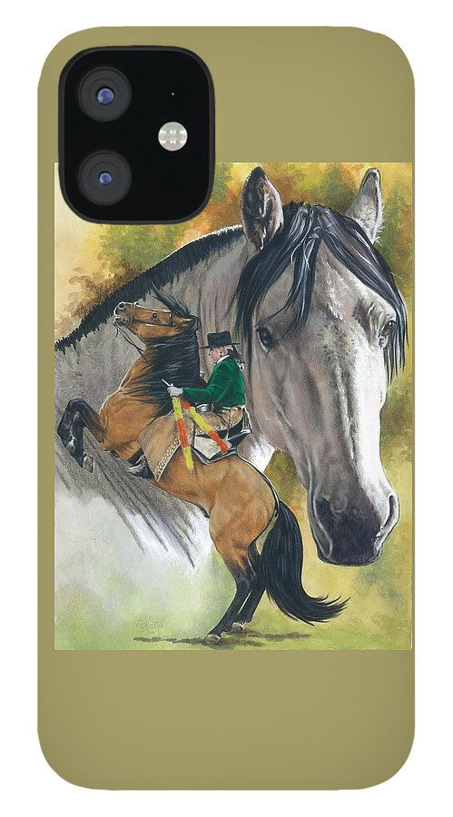 Hoof Stock IPhone 12 Case featuring the mixed media Lusitano by Barbara Keith