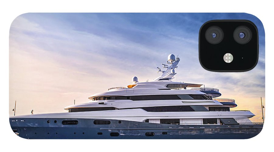 Yacht IPhone 12 Case featuring the photograph Luxury yacht by Elena Elisseeva