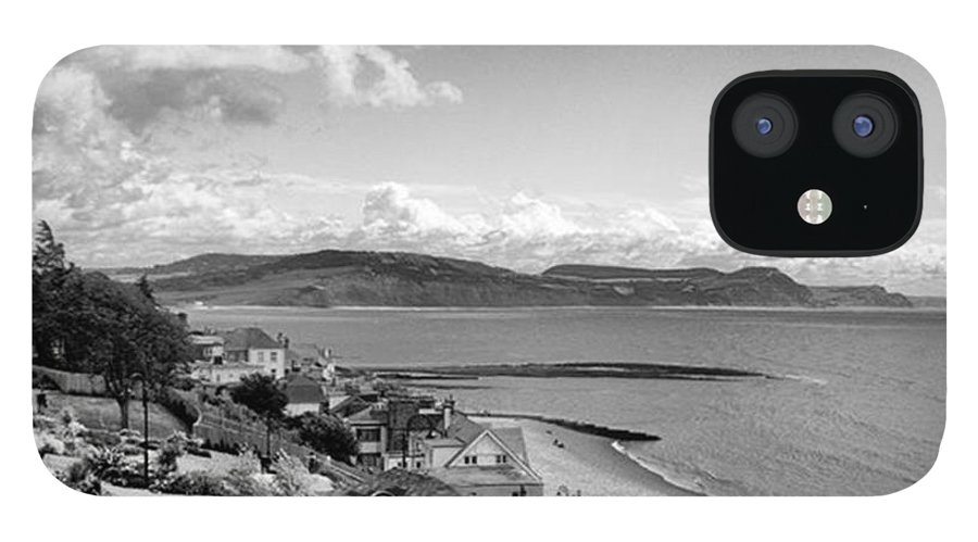 Blackandwhitephotography IPhone 12 Case featuring the photograph Lyme Regis And Lyme Bay, Dorset by John Edwards