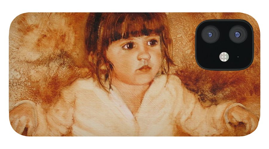 Oil Painting IPhone 12 Case featuring the painting Madison by Laura Lee Zanghetti