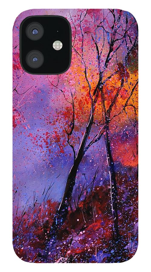 Landscape IPhone 12 Case featuring the painting Magic trees by Pol Ledent