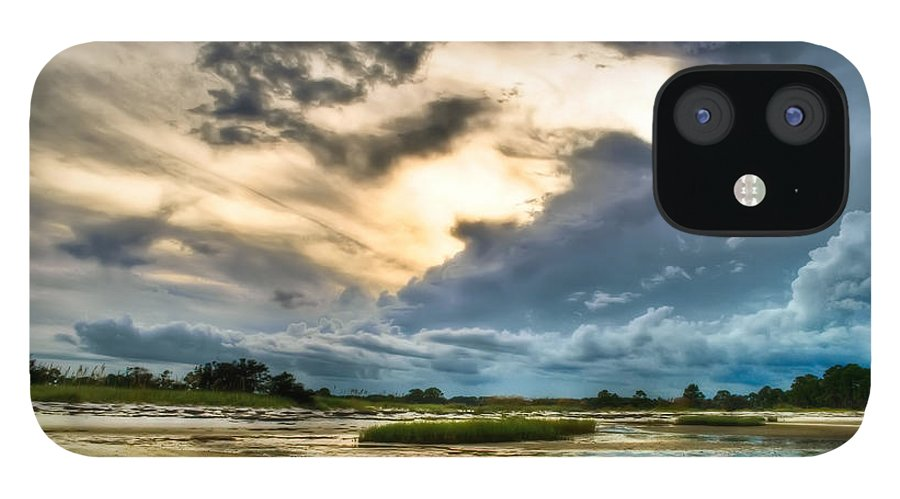 Beach IPhone 12 Case featuring the photograph Majestic Sky by Rich Leighton